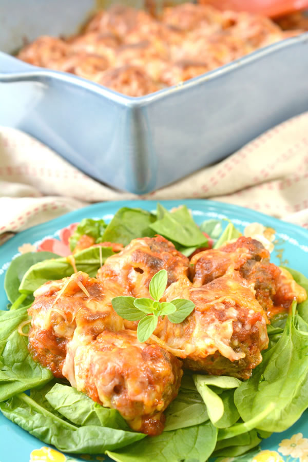 Keto Meatballs! Low Carb Baked Meatball Casserole - Quick & Easy Ketogenic Diet Recipe - Completely Keto Friendly Dinner